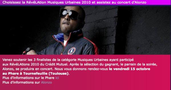 """INSCRIS TOI ET RECUPERE TON INVITATION POUR LE TREMPLIN """"REVELATION 2010"""" AU PHARE (TOULOUSE)"""