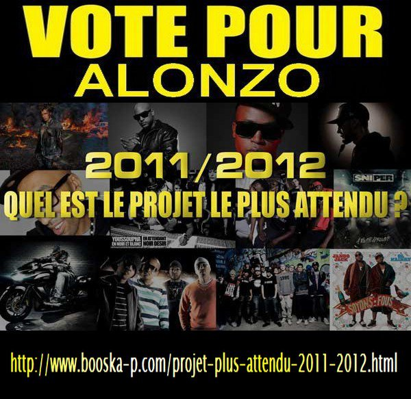 """Soutenez ALONZO en votant pour lui pour       """"L'album le plus attendu en 2011-2012"""""""