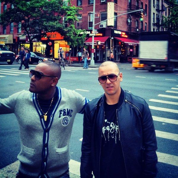 À New York avec DJ Mej pour le mixe de l'album de mon groupe Psy4 de la rime !!! Patience... #4emeDimension