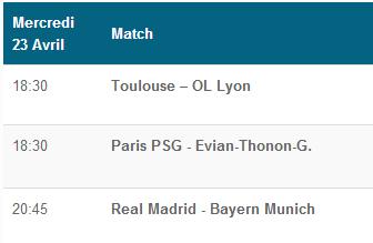Regarde les matchs de ce soir en direct sur : http://site-de-paris-sportif.com/streaming-sport