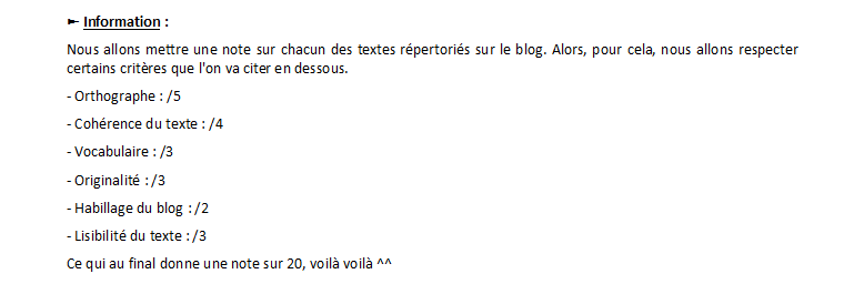 Explication et inscription fiction / fan-fiction / OS !