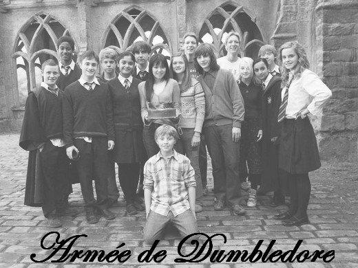 """"""" - Oui , c'est pas mal, l' AD, aprouva Ginny. Mais ce serait mieux si ça voulait dire l'armée de Dumbledore, puisque c'est la pire crainte du ministère , non ?"""" -- Harry Potter et l'Ordre du Phénix."""