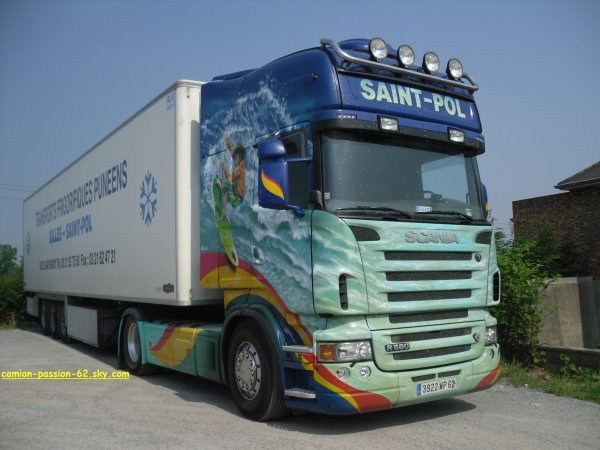 scania r 580 transport saint-pol ( photo prise par mes soin )