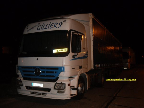 mercedes des transport gilliers ( photo prise par mes soin )