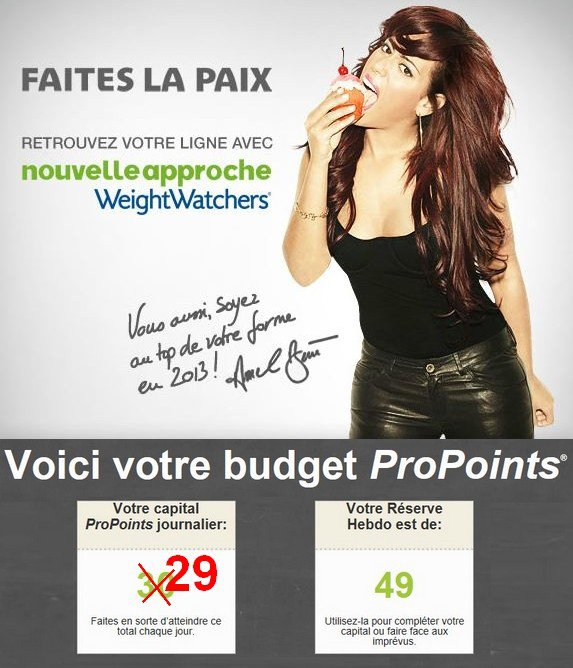 Inscription sur site Weight Watchers !!