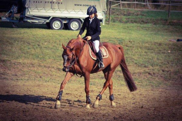 Mon cheval et moi :) au padock :p