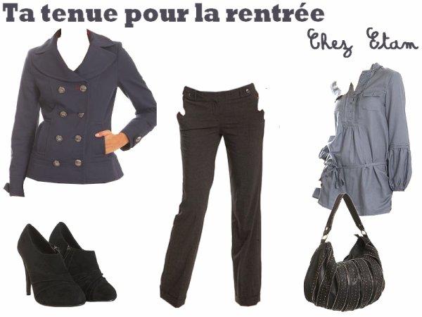 je te propose 3 tenues pour la rentr e chez pimkie promod et etam votre look et celui. Black Bedroom Furniture Sets. Home Design Ideas