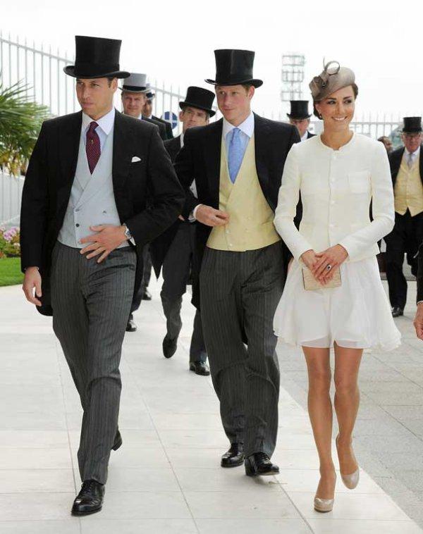 William , Harry et Kate