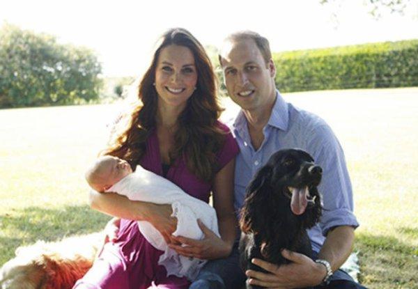 Première photo officiel du Prince George Alexander Louis et de ses parents