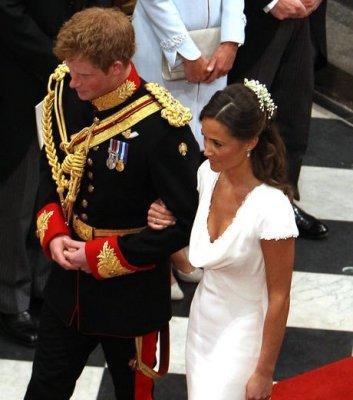 Pippa et Harry au mariage de Kate et William