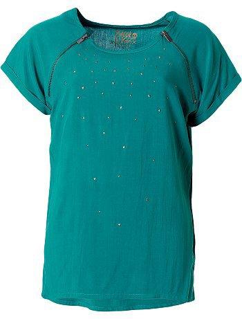 Blouse bleu turquoise à paillettes 10/16 ans