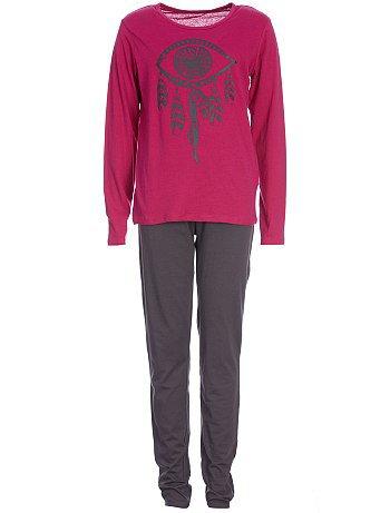 Pyjama rose et gris avec imprimé attrape rêve indien 10/16 ans