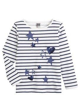Tee - Shirt à manches longues marin avec motif imprimé 2/14 ans