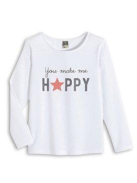 Tee - Shirt à manches longues blanc avec motif imprimé 2/14 ans
