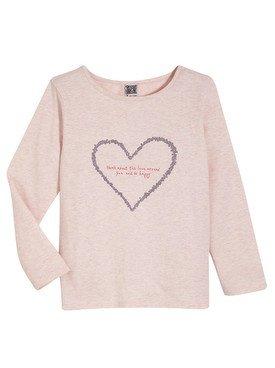 Tee - Shirt à manches longues rose clair avec motif imprimé 2/14 ans