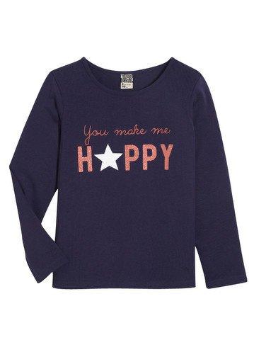 Tee - Shirt à manches longues violet  avec motif imprimé 2/14 ans