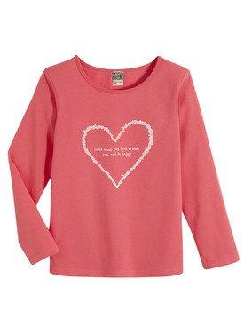 Tee - Shirt à manches longues rose avec motif imprimé 2/14 ans