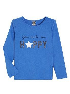 Tee - Shirt à manches longues bleu avec motif imprimé 2/14 ans
