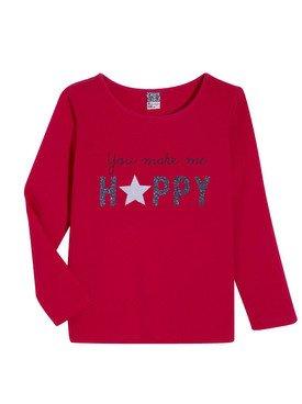 Tee - Shirt à manches longues rouge avec motif imprimé 2/14 ans