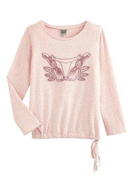 Tee - Shirt à manches longues rose clair  avec imprimé 2/14 ans