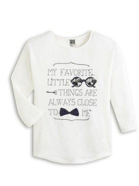 Tee - Shirt à manches longues blanc avec imprimé  2/14 ans