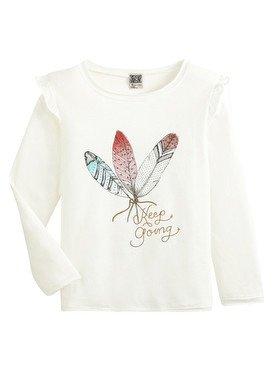 Tee - Shirt à manches longues blanc avec imprimé papillon  2/14 ans