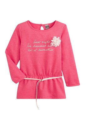 Tee - Shirt à manches longues rose avec ceinture et  imprimé  2/14 ans