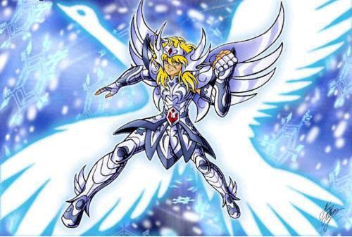 Hyoga et sont armure divine