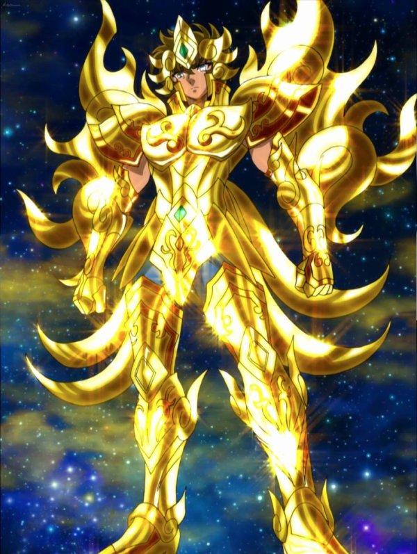 Aiolia et sont armure divine