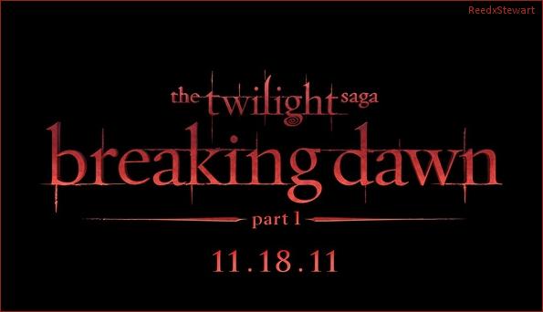 .  Voici le logo pour Breaking Dawn ; Moi perso j'adore avec les couleur et tout !  Ton avis ?  .