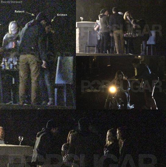 .  Candids 2011  :  9 Avril Kristen fêtait son anniversaire en compagnie de Rob, sur le plateau de BD.    .