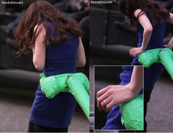 .  Breaking Dawn : 18Avril Kristen était sur le tournage de BD à Vancouver  .