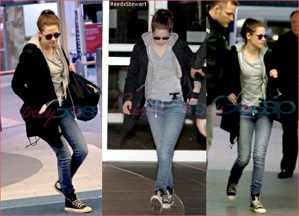 .  Candids : 20 Avril Kristen quittant Vancouver, le tournage de BD est terminer ! Coté tenue, c'est un TOP, c'est Kristen quoi !    .