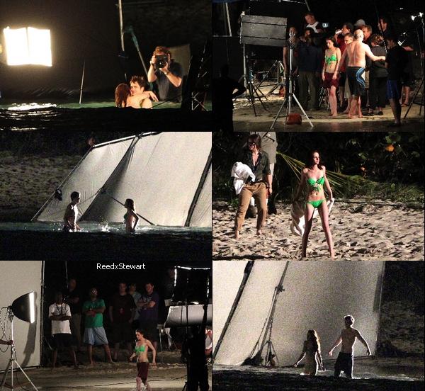 .  Le 22 Avril; Kristen S. et Robert P. tournaient une scène de la lune de miel  de Breaking Dawn aux Iles Caraibes + La video du tournage   .