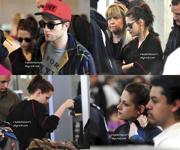 .  Le 21 Avril, Kristen S et Robert P. quittaient L.A. ensemble.  Elle doit être vraiment fatiguée..   .