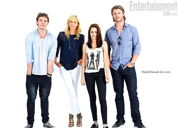 .  Le cast de Blanche Neige et le chasseur dont Kristen, ont fait un shoot portrait lors du Comic Con.     .
