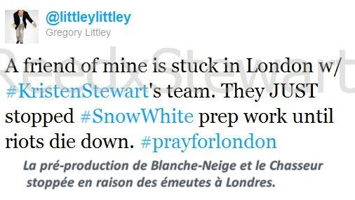 .  Plus trop de news de Kristen mais du nouveau sur le tournage de SWATH  On espère qu'ils sont bien protégé et que tout se passe bien pour eux !  !   .
