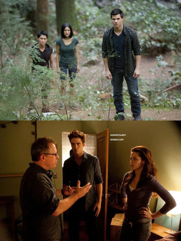 .  Des nouvelles images de Breaking Dawn sont apparus dont une du Behind The Scene    .