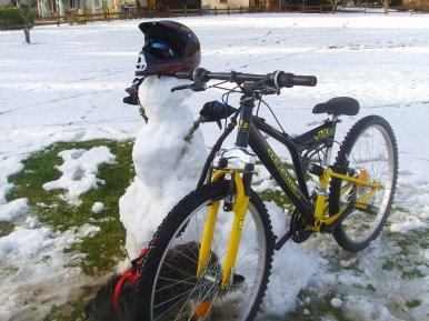 Bonhomme de Neige Biker