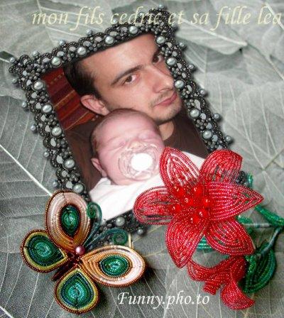mon fils cedric et sa fille LEA