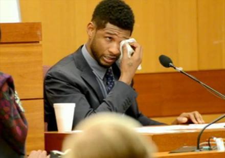 Usher tombe en larme au tribunal