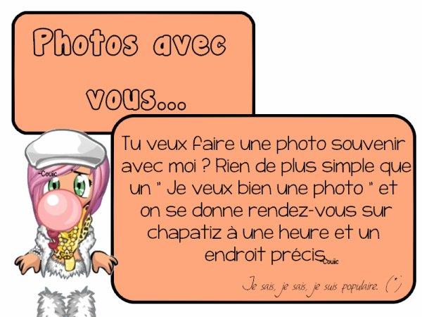 Photos avec vous...