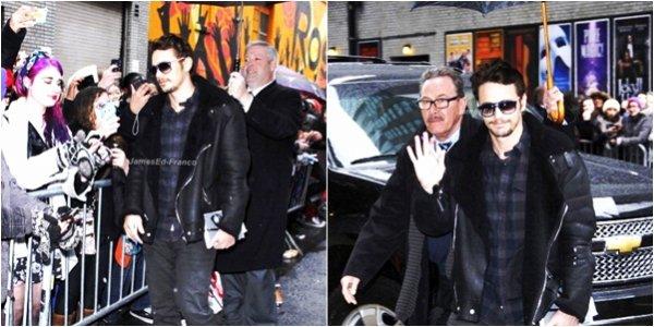 """- Enfin des nouvelles de notre charmant acteur: James Franco avec ses fans avant d'assister au """"Late Show With David Letterman"""" pour promouvoir Spring Breakers.  -"""