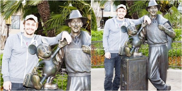 - James Franco était à Disney California Adventure Park  -