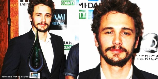 - 28 Avril 2013 : James Franco était au 15éme Festival de Miami Gay & Lesbian Film 2013.   -