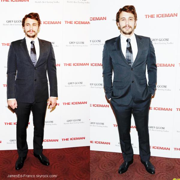 """- 29 Avril 2013 : James Franco était à l'avant premiere de """"The iceman"""" à NYC. ."""