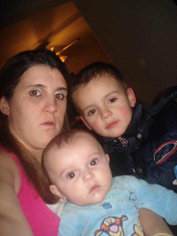 moi ma fille camille et mon fils andrew