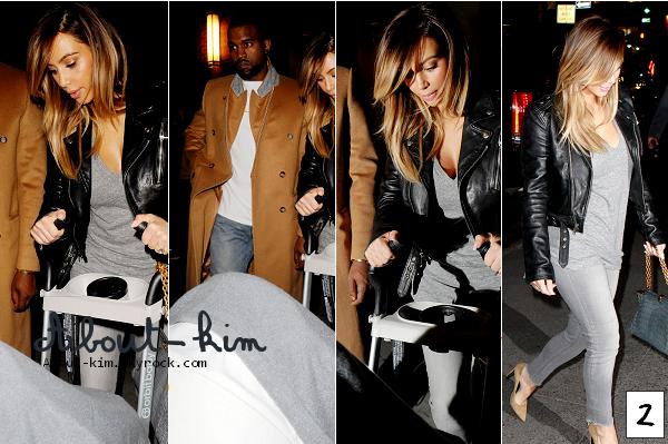 About-Kim.skyrock.com Kim & son amie Lala quittent l'appartement de Kanye pour déjeuner chez ABC Kitchen le 22 Novembre 2O13.  Kim dîne en famille avec Kanye & North à New York le 22 Novembre 2O13.