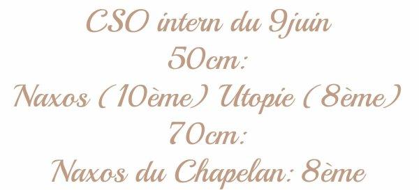 CSO intern du 9juin ♥ Marie C et Utopie et Naxos du Chapelan !