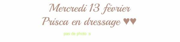 MERCREDI 13 FEVRIER: Prisca en Dressage ♥